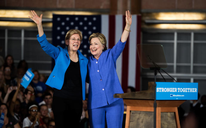 How would you react if hypothetically Elizabeth Warren won the Democratic Nomination and choose Hillary Clinton as her VP?