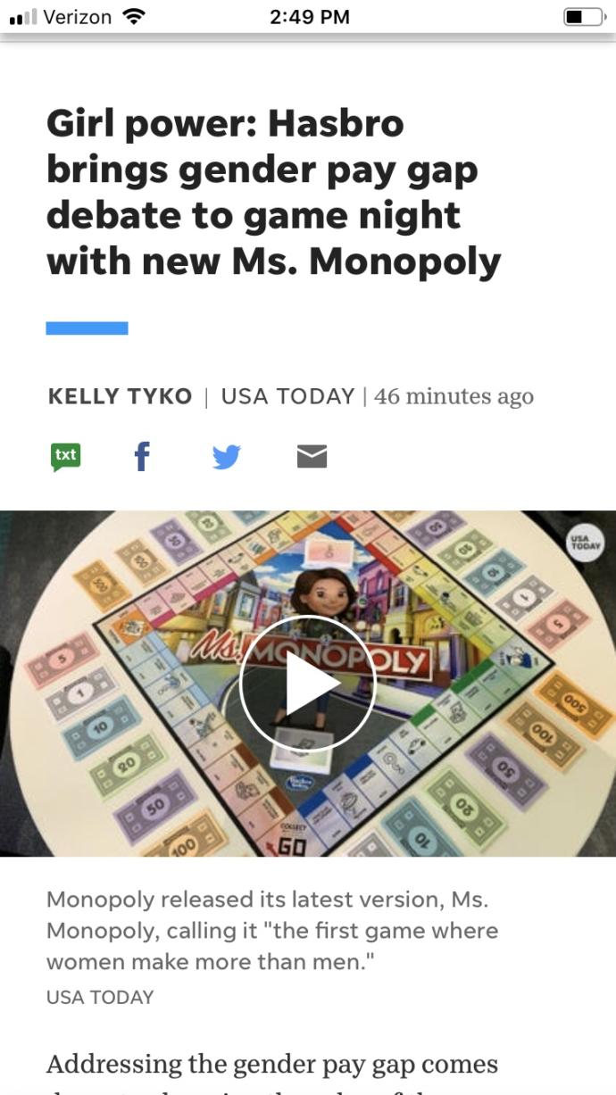 Thoughts on Ms. monopoly?