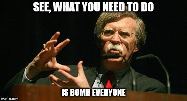 What's your opinion of Trump firing John Bolton as National Security Advisor?