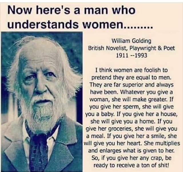 "Do you agree with this ""old white mans"" declaration about women?"