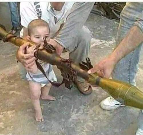 Would you teach your toddler to fire a rocket launcher?