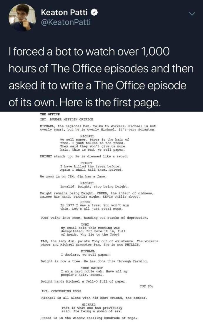What show would you force a bot to write an episode for?