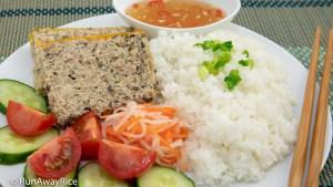 Plate with broken rice