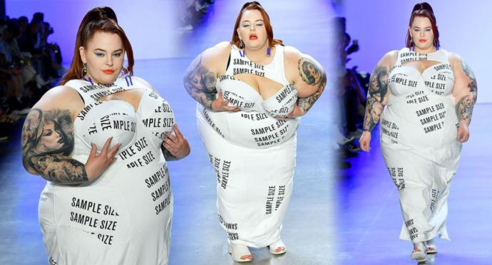 Tess holliday walked an NYFW show What do you think?
