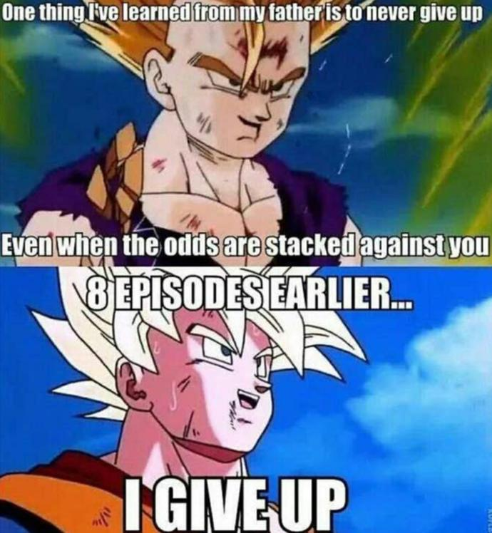 I think Gohan is referring to his real dad, Piccolo