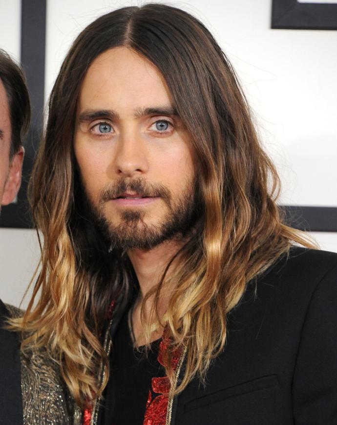 Man with long hair.