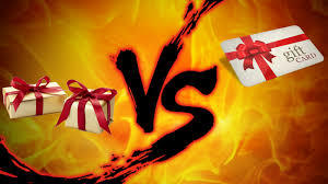 What do you like more: gift cards or gifts?