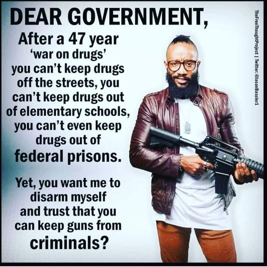 Why do you think that Guns are any different from prohibition and drugs?