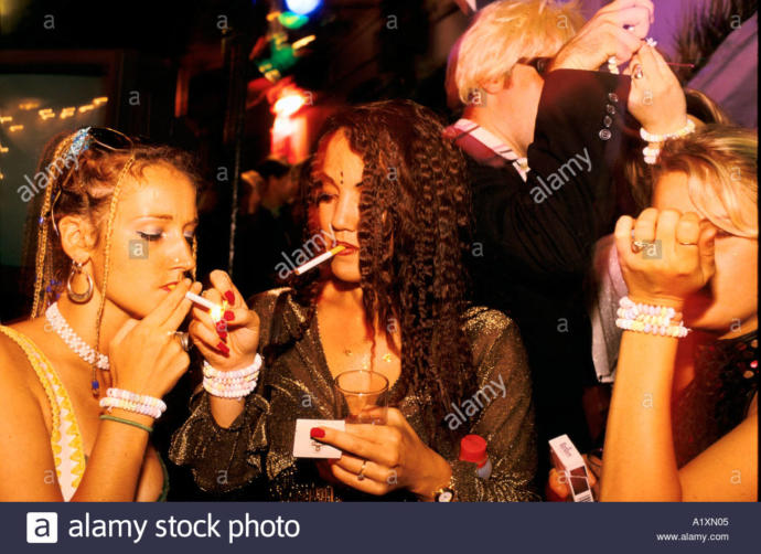 In many countries it's illegal to smoke in bars
