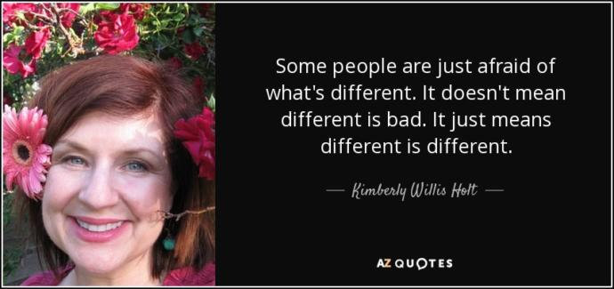 Are you afraid to be different?