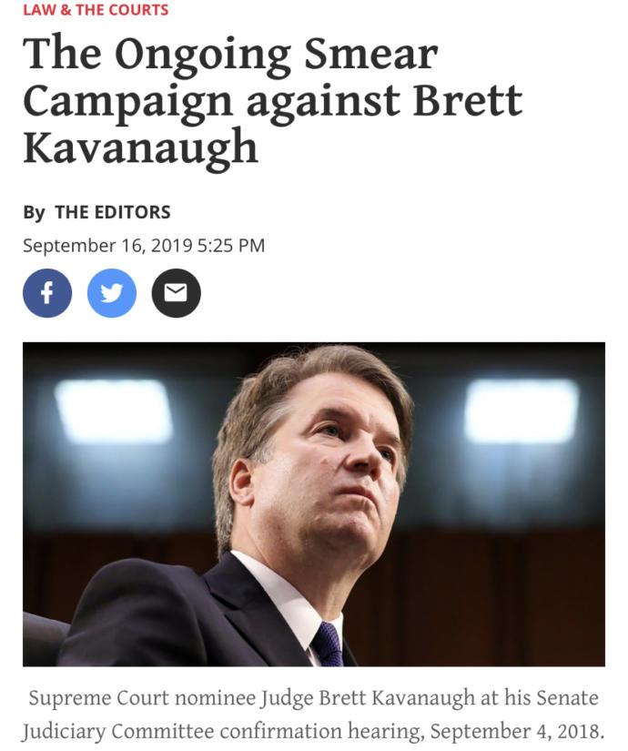 Why do the liberal democrats keep getting away with trying to smear Brett Kavanaugh?