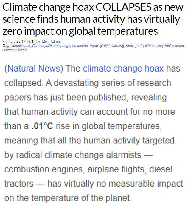 New Science Reveals Climate Change IS A HOAX. Humans Have No Effect On Climate. Is This Fake Science Finally Going To Be Junked Once And For All?