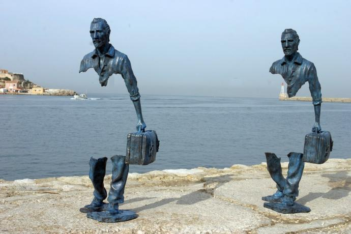 'Les Voyageurs' by Bruno Catalano, Marseilles, France