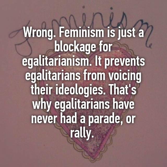 Why do a lot girls say MGTOW is a sexist movement but feminism isn't?