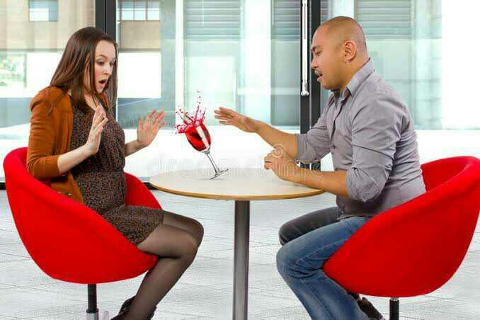 How would you react, if your date spills a drink on you?