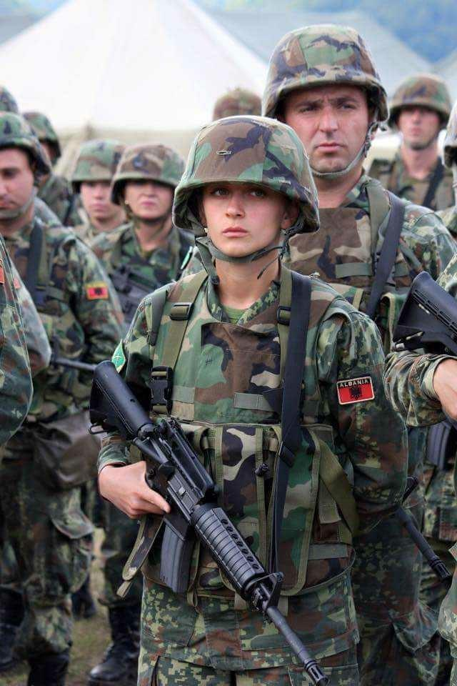 What do you think about Albanian female soldiers?