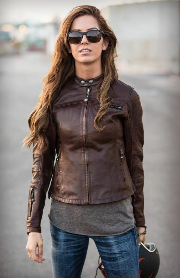 Which is the most interesting motorcycle girl outfit?