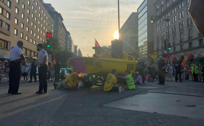 Climate change activists blocking key intersections across Washington, D. C. Opinions?