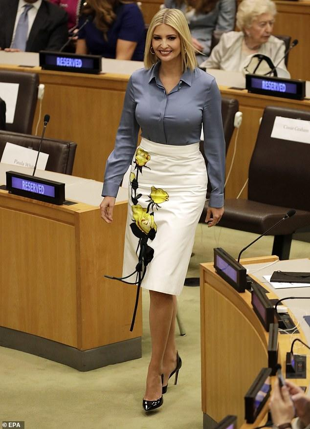What do you make of Ivanka's nipples at the UN (This is NOT fake or edited)?
