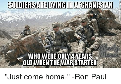 Did you know their are US soldiers serving in Afghanistan that were still in diapers when the war started?