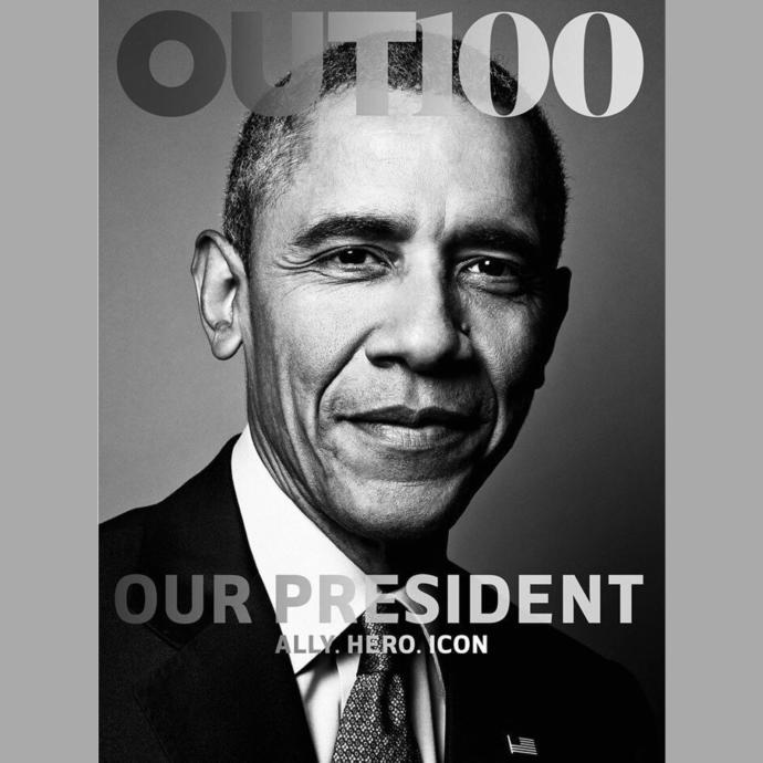 Obama becomes the first President to pose for an LGBT magazine