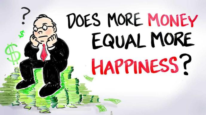Who believes happiness is achieved by money?