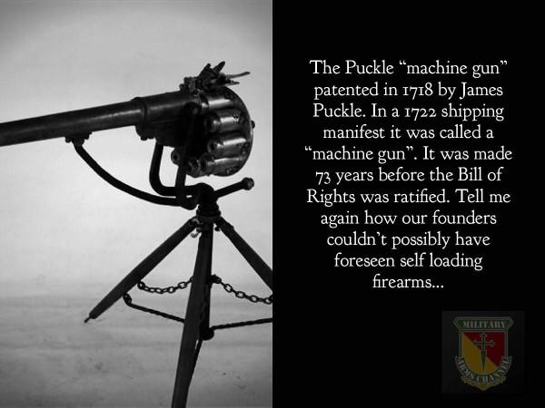 Do you think the Founding Fathers didn't see farther advancements to Firearms?
