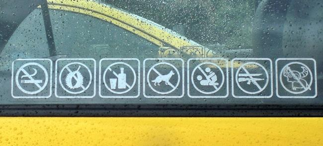 Things you are not allowed to do or take with you in a taxi in Thailand?