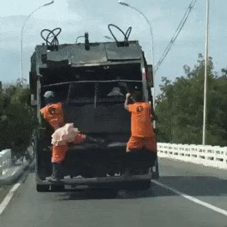 How would you react if you witnessed someone robbing a garbage/trash truck?