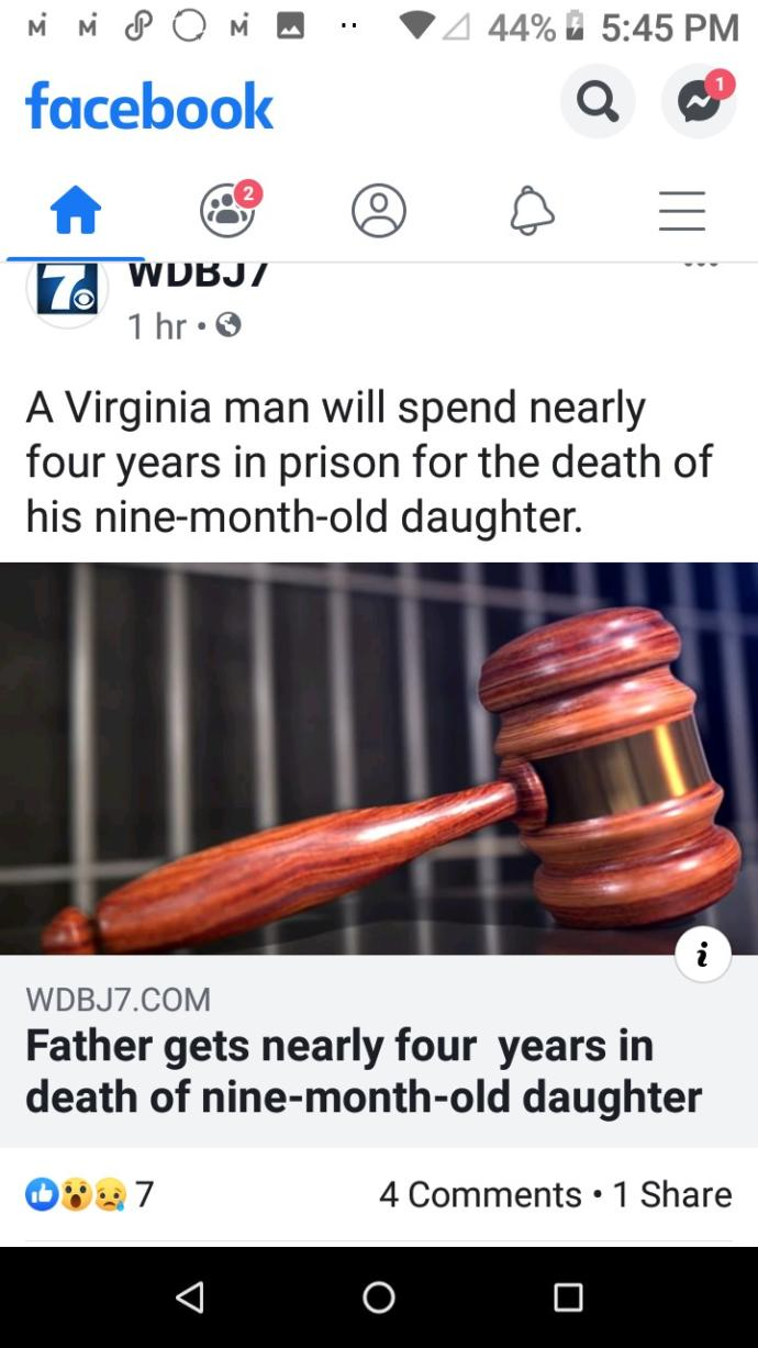 Do you think that nearly 4 years in prison is enough for a man who killed his 9 month old daughter?