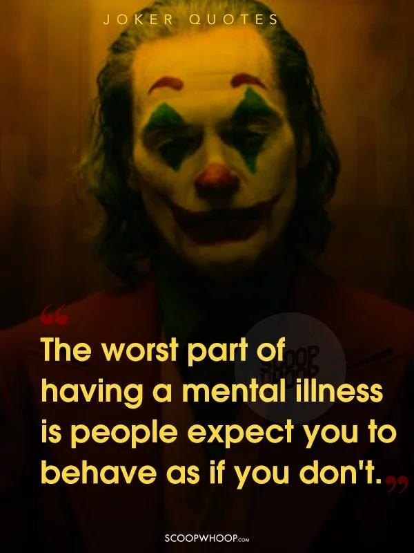 Do you think the movie joker will turn into a movement and what do you think of its commentary on mental illness?