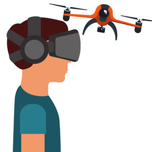 What do you think about flying a drone and controlling its camera with a VR headset?