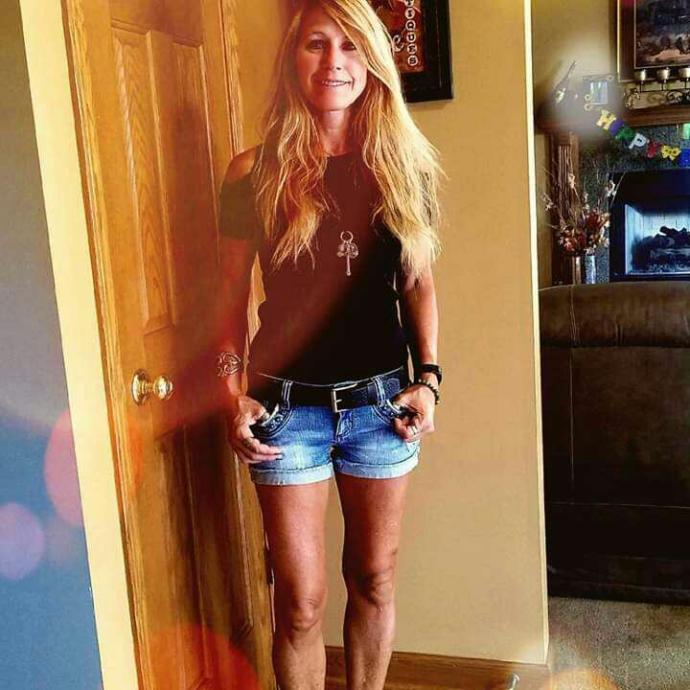My 58 year old step mom wears jean cut offs?