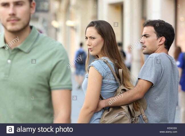 Lads, have you ever caught your girl checking out another guy?