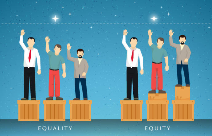 Also... people seem to frequently confuse equity with equality.
