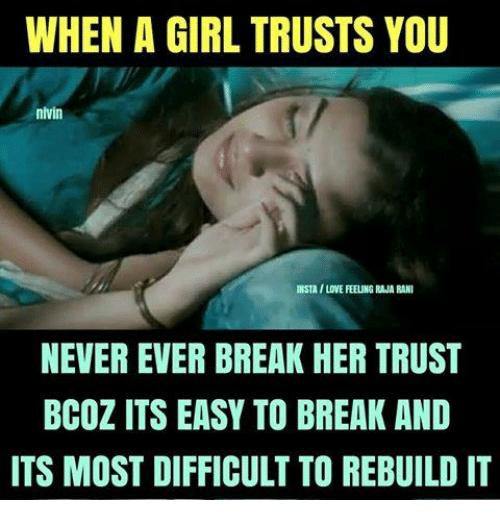 Why do females have a greater lack of trust than guys do?
