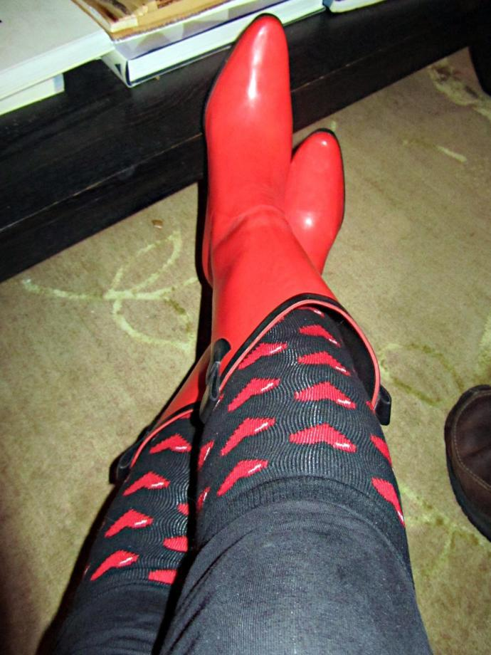 My new Rain Boots arrived today. Do you think these look good for Winter and would you wear them?