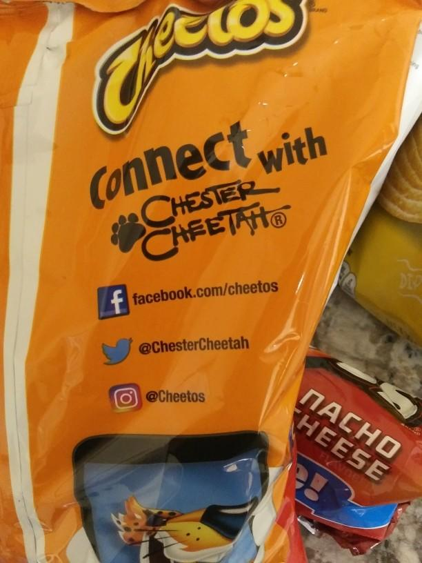 If you had something to say to the Cheetos Chester Cheetah what would it be?