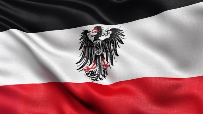 German imperial flag under the Hohenzollern dynasty