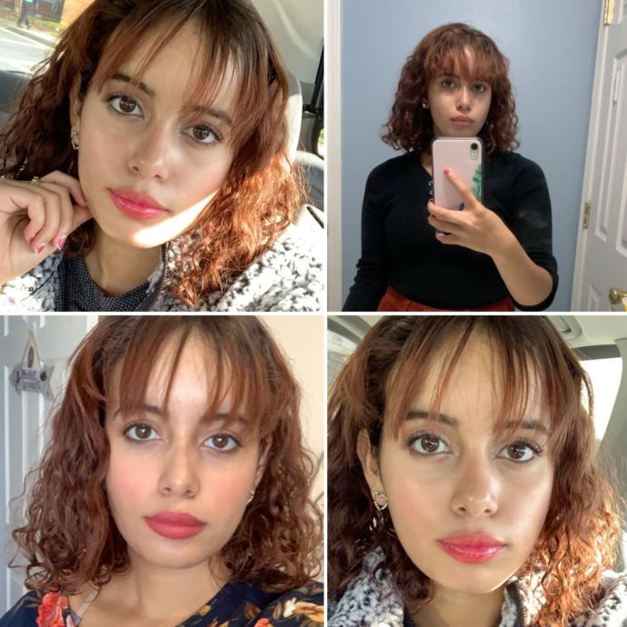 Short curly hair with bangs (no straightening ) is it cute or out of style?