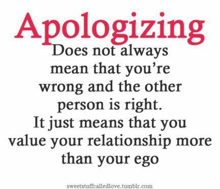 Do you agree with this statement of apologizing?