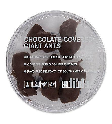 Has anyone ever given you something to eat and then told you that something was in it that you didn't like? ... how about chocolate covered insects?