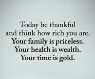 What are you thankful for... and why?