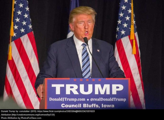 Its been said in the news this week that the only one who can beat President Trump is Trump?