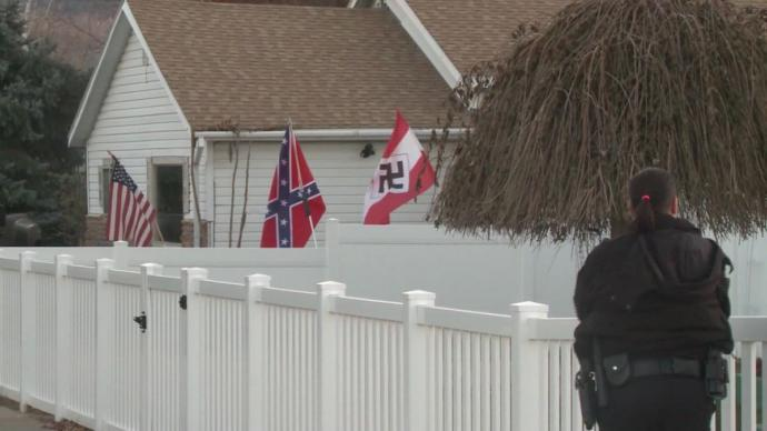 Is you saw Nazi/Confederate flags, how would you react?