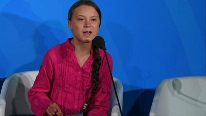 Greta Thunder, a young activist?