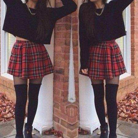 Are plaid skirts appropriate for a grown woman?