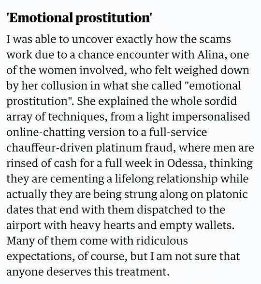 What do you know about Emotional Prostitution?