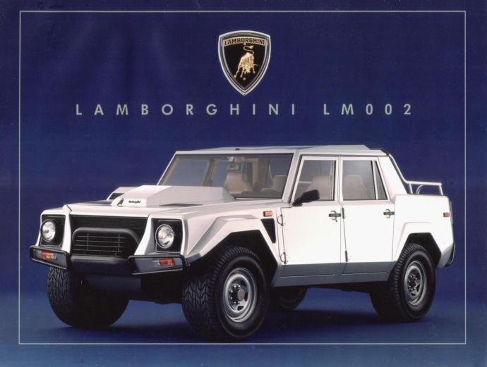 The Lamborghini LM002 aka Lamborghini truck is an off-road Truck Top Speed: 125 mph