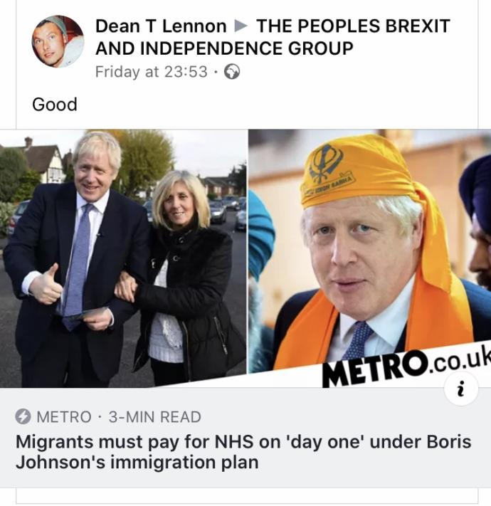My fellow British users, do you agree with Boris Johnson's new terms for immigrants for the NHS?